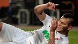 Raúl Bobadilla après son triplé contre l'AZ Alkmaar