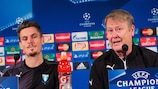 Markus Rosenberg and Åge Hareide at Malmö's press conference