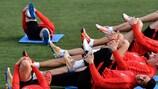 Atlético limber up on Tuesday