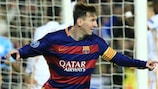 Lionel Messi celebra la victoria del Barcelona contra la Roma por 6-1 en 2015