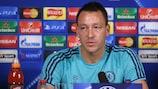Chelsea skipper John Terry cuts a determined figure