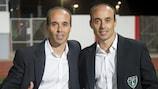 David y Dimas Carrasco, entrenadores del Europa gibraltareño