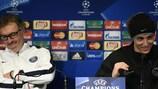 Laurent Blanc et David Luiz lundi en conférence de presse