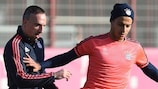 Franck Ribéry and Thiago Alcántara are feeling confident at 1-0 up