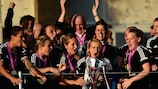 Saskia Bartusiak hopes to lift the UEFA Women's Champions League trophy again next May
