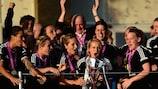 Saskia Bartusiak hofft, im kommenden Mai die UEFA Women's Champions League abermals zu gewinnen
