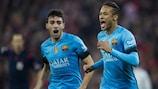 Neymar jubelt über sein Tor für Barcelona gegen Athletic