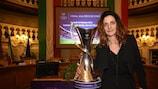 Patrizia Panico with the trophy in Reggio Emilia