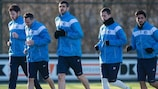 Die Spieler von Gent beim Training am Dienstag