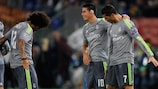 Marcelo (left) bows before the attacking genius of Cristiano Ronaldo (right)