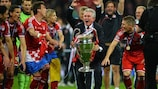 Jupp Heynckes celebrates Bayern's 2013 UEFA Champions League final win