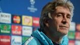 Manuel Pellegrini at City's pre-match press conference