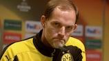 Thomas Tuchel en conférence de presse pour Dortmund