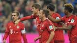 Die Bayern feiern den Kantersieg gegen Bremen