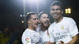 Casemiro (derecha) disfruta de temporada de explosión en el Real Madrid