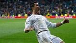 Cristiano Ronaldo ivre de bonheur après le coup franc qui donne la qualification au Real Madrid