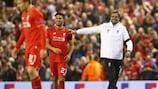 Jürgen Klopp et Emre Can (Liverpool) lors de la victoire contre Dortmund