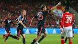 Thomas Müller celebrates after putting Bayern 2-1 up