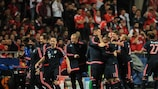 Bayern celebrate after going 2-1 up