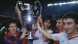 Steaua celebrate winning the 1986 European Champion Clubs' Cup final