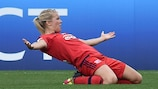 Ada Hegerberg festeja o seu golo na final pelo Lyon