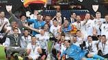Sevilla celebrate their 2015/16 triumph