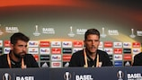 Coke (left and Daniel Carriço (centre) give their thoughts on Tuesday