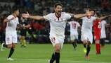 Coke fue el héroe del Sevilla en la última final de la UEFA Europa League