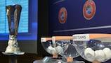 Las bolas del sorteo de la primera ronda de la Europa League