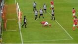 Christy Fagan scores St Patrick's winner against Jeunesse Esch