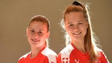 Switzerland captains Julia Stierli and Lesley Ramseier