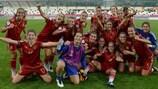 España celebra la clasificación para semifinales