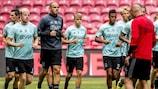 L'allenamento dell'Ajax alla vigilia dell'andata contro il PAOK