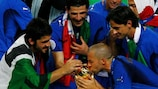 Italy celebrate after beating France in the 2006 FIFA World Cup final