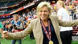 Silvia Neid celebrates after Germany's victory in the UEFA WOMEN'S EURO 2013 final