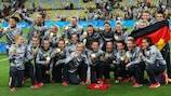 Festa da Alemanha com as medalhas de ouro