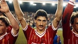 Ian Rush with Liverpool in 1984