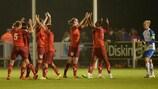 BIIK-Kazygurt celebrate their win against Wexford