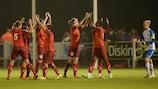 BIIK-Kazygurt celebra su gol contra el Wexford