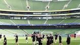 Dundalk am Dienstag beim Training in Dublin