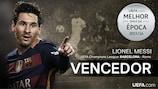 Lionel Messi vence Melhor Golo da Época do UEFA.com