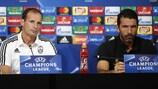 Massimiliano Allegri e Gianluigi Buffon in conferenza stampa