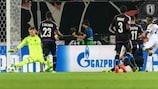 Jonathan Cafú (R) scores against Basel on matchday one