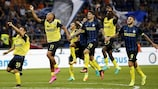 La joie des joueurs de l'Inter