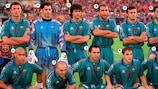 Foto: Equipa do Barcelona que venceu a Taça das Taças em 1997