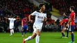 Heung-Min Son after scoring Tottenham's matchday two winner in Moscow