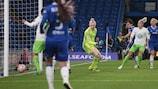 Zsanett Jakabfi va a segno per il Wolfsburg sul campo del Chelsea