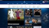 Offizielle chinesische Webseite der UEFA Champions League am Start