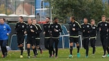 Club Brugge in training on Monday morning