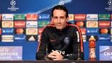 Unai Emery in der PK vor dem Basel-Spiel